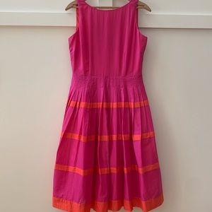 talbots pleated a line dress